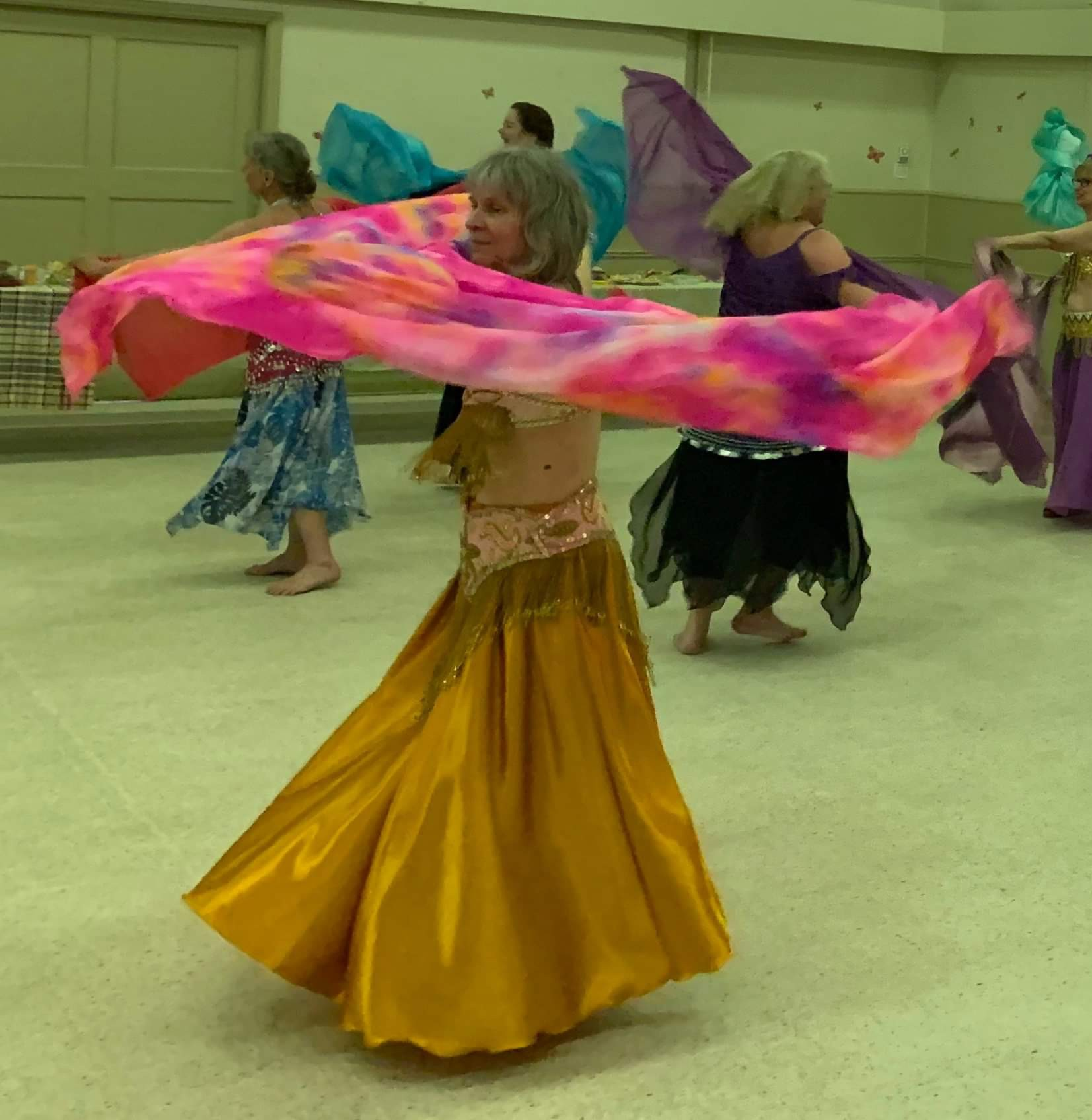 Blog Photo - FOTA Allison Bellydancing with Pink shawl