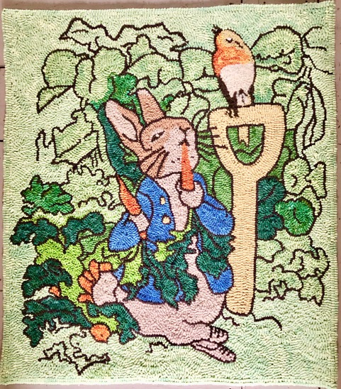 Blog Photo - FOTA Jessica Hooked Rug Rabbit